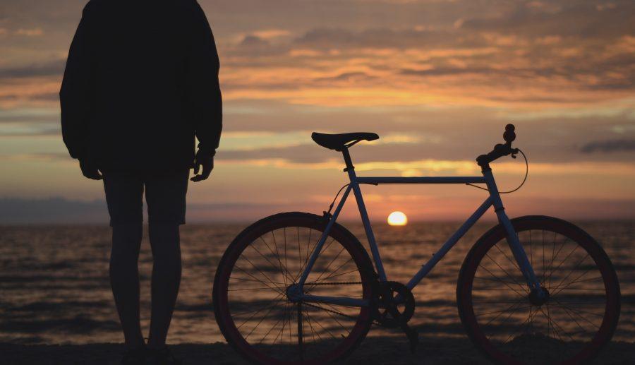 Beach Bike - reflection